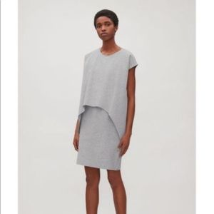 COS layered short sleeve dress